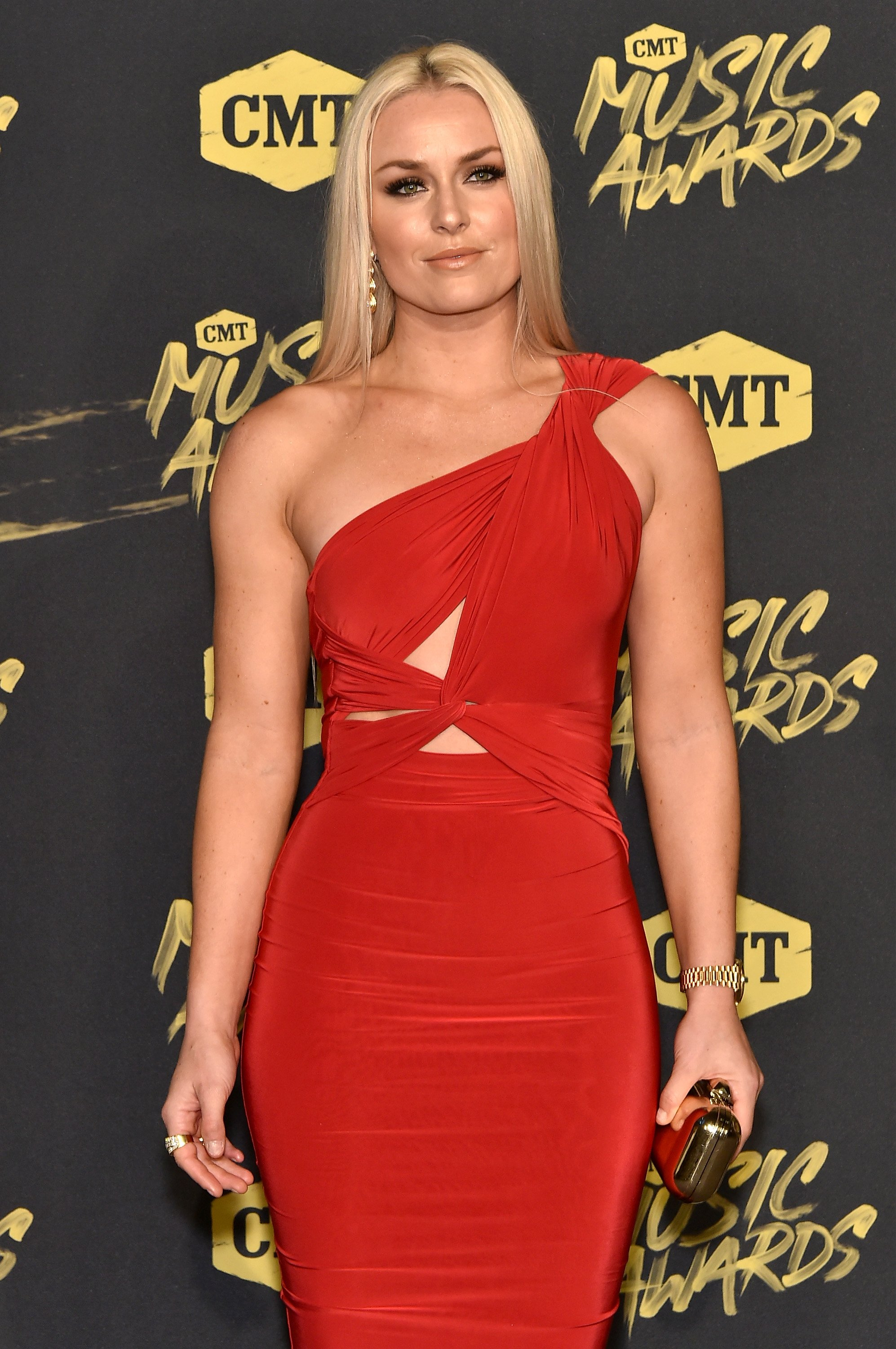 """""""The Pack"""" host, Lindsey Vonn attend the 2018 CMT Awards at the Bridgestone Arena, Nashville, Tennessee, on June 7, 2018. 