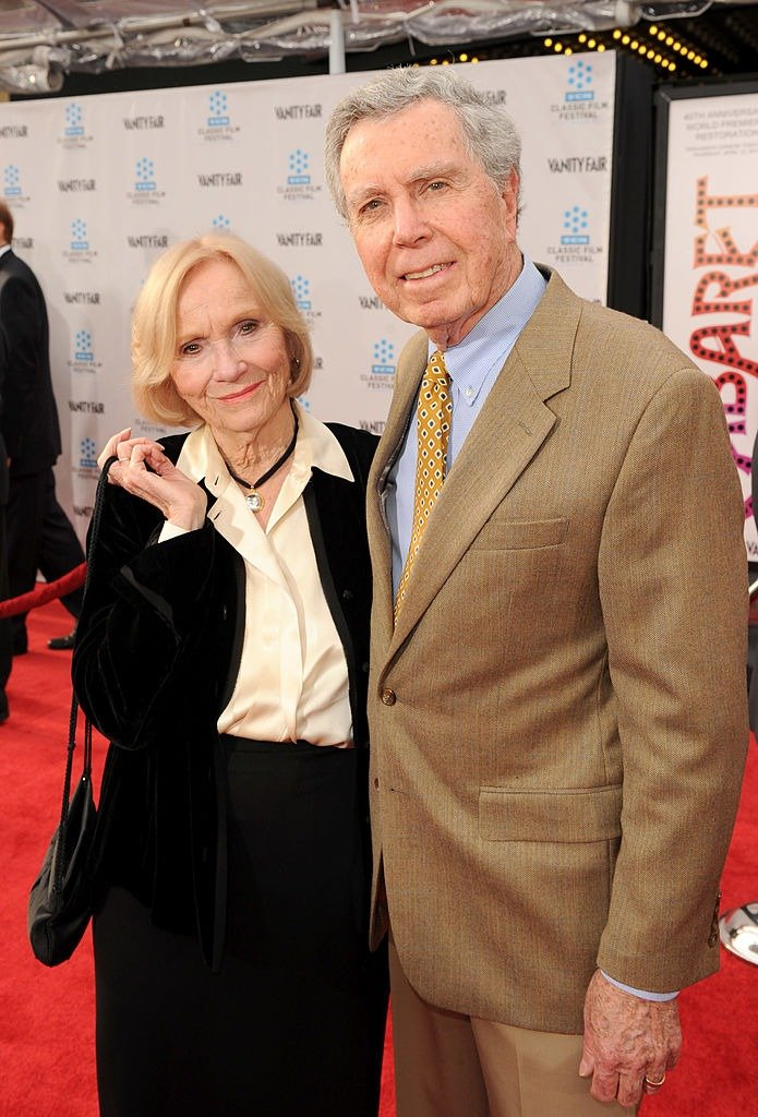 Actress Eva Marie Saint and director Jeffrey Hayden arrive at the 2012 TCM Classic Film Festival Opening Night Gala held at Grauman's Chinese Theatre on April 12, 2012. | Photo: Getty Images