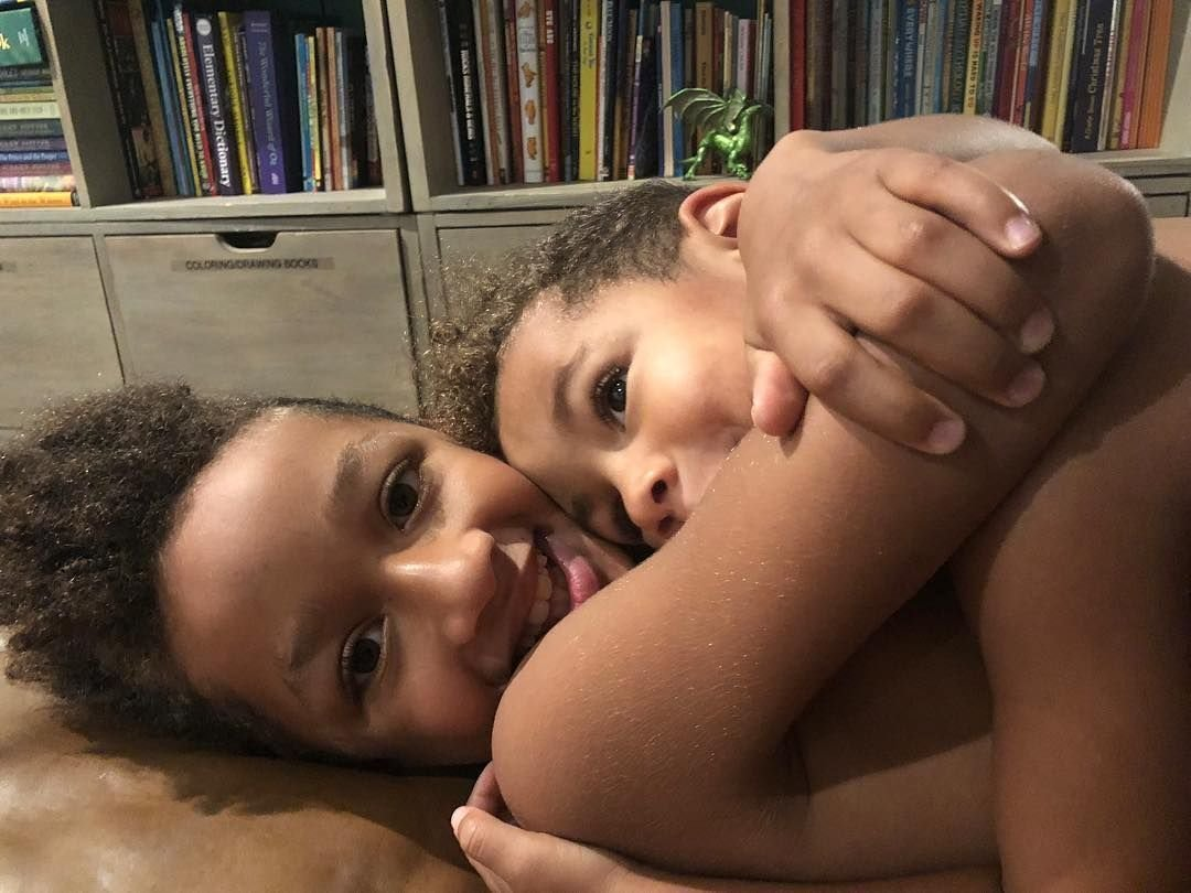 Alicia Keys' sons Egypt, 9, and Genesis, 5, at their home in Englewood, New Jersey/ Source: Getty Images