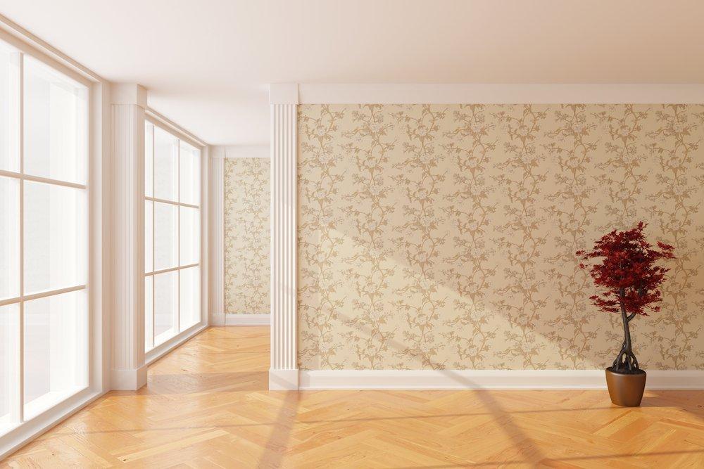 Paredes con papel pintado. Fuente: Shutterstock