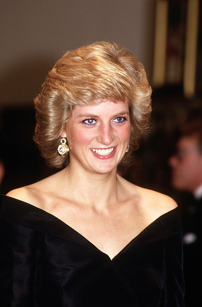 "Princess Diana in her iconic ""Travolta"" dress"