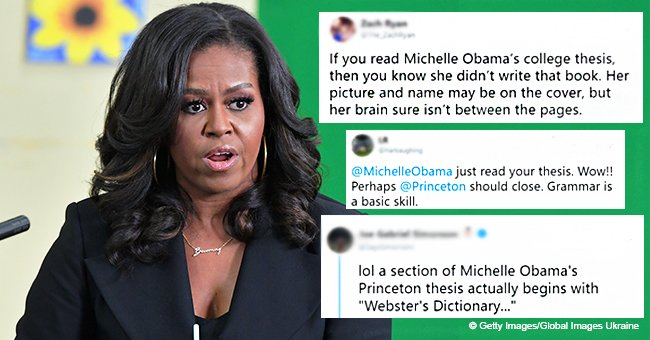 Michelle Obama slammed over her 'illiterate' thesis after saying powerful people aren't that smart
