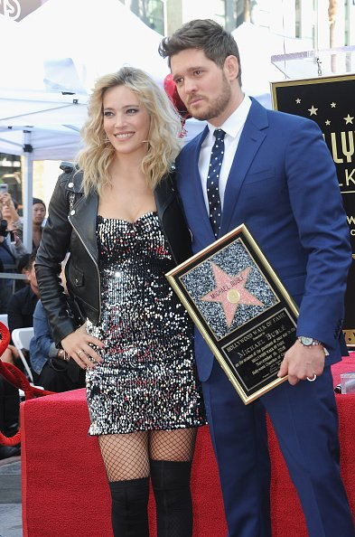 Luisana Lopilato and Michael Bublé pose at the Star Ceremony On The Hollywood Walk Of Fame held on November 16, 2018 in Hollywood, California.   Photo: Getty Images