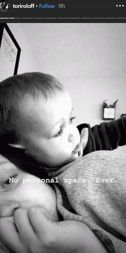 Photo of Tori Roloff and her son, Jackson   Photo: Instagram story / @toriroloff