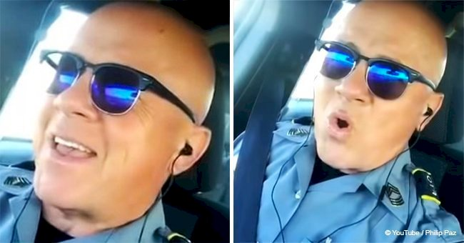 Police officer shows off remarkable talent during lip sync challenge