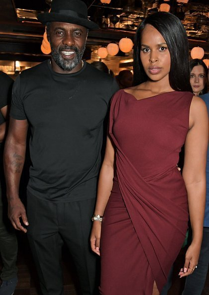Idris Elba and Sabrina Dhowre Elba at the official launch party of Lucky Cat in London, England.| Photo: Getty Images.