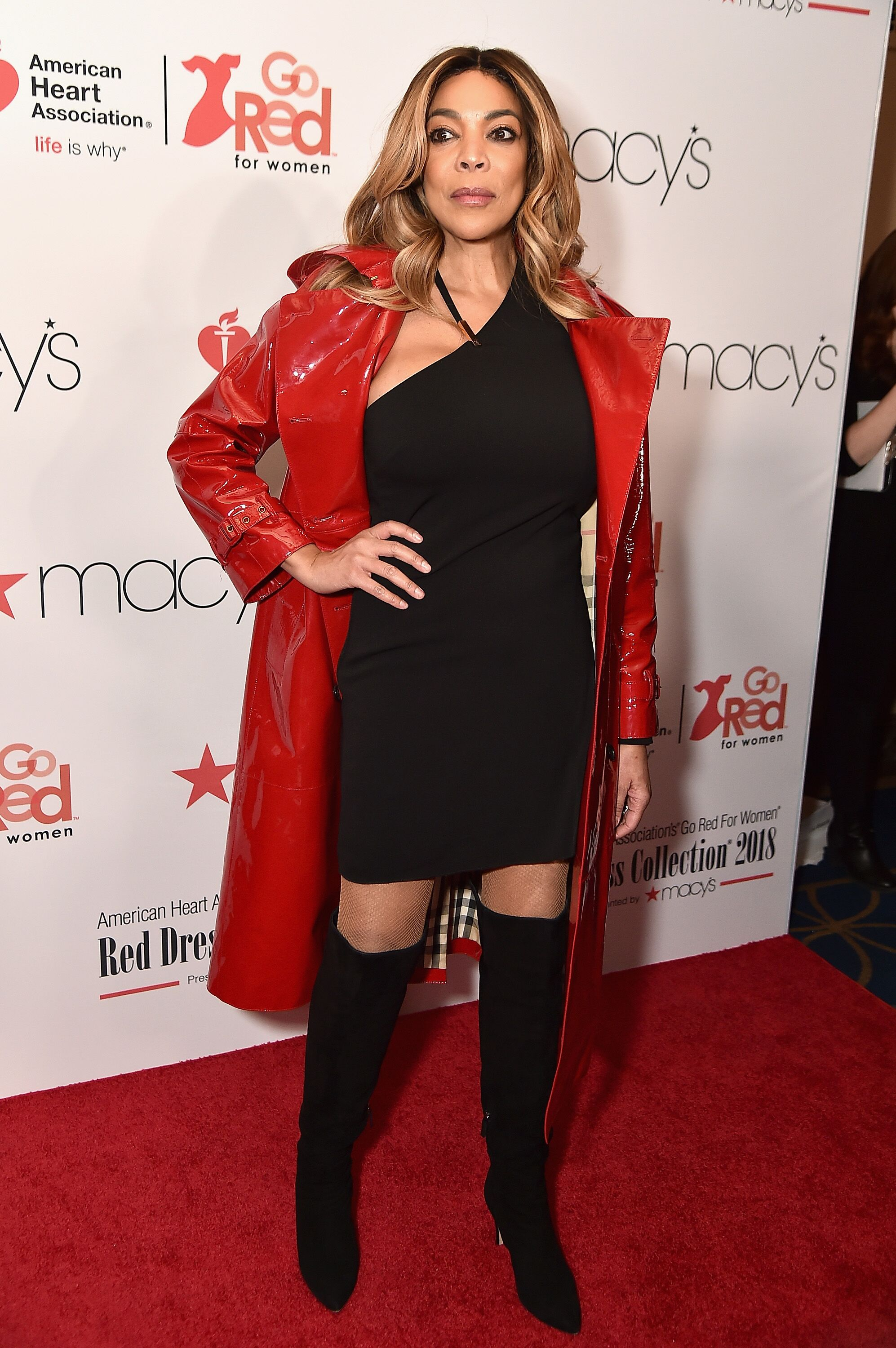 "TV host Wendy Williams at Macy's ""Go Red"" event/ Source: Getty Images"