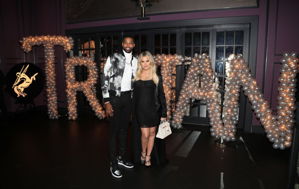 Tristan Thompson and Khloé Kardashian at the former's birthday celebration at Beauty & Essex on March 10, 2018 | Photo: Getty Images