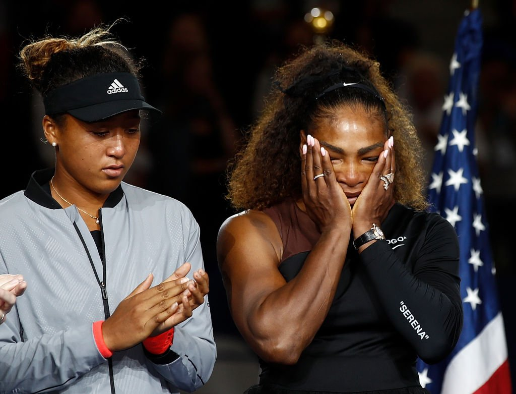 Naomi Osaka alongside Serena Williams at the 2018 US Open at the USTA Billie Jean King National Tennis Center on September 8, 2018. | Photo: Getty Images