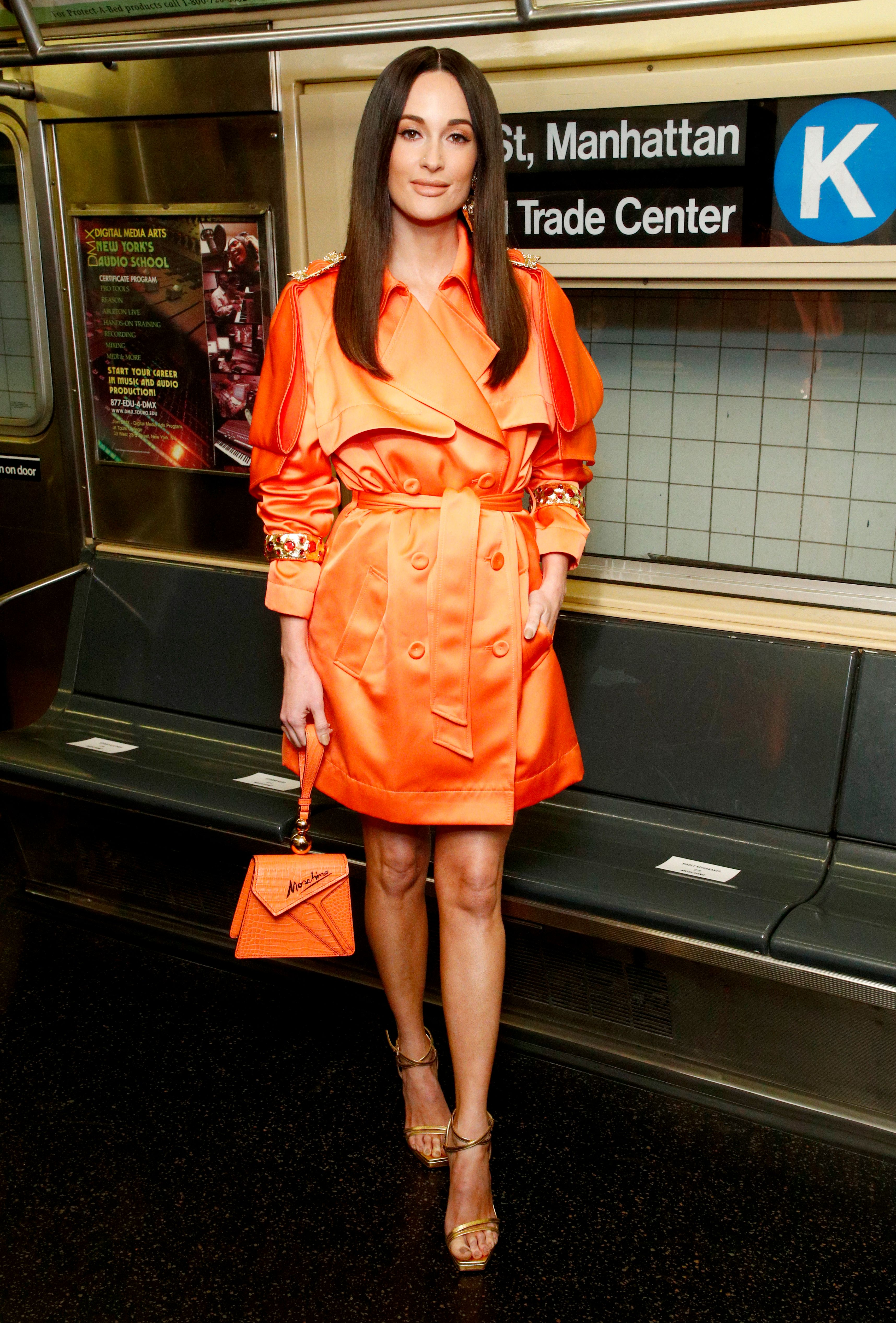 Kacey Musgraves at the Moschino Prefall 2020 Runway Show front row at New York Transit Museum on December 09, 2019 | Photo: Getty Images