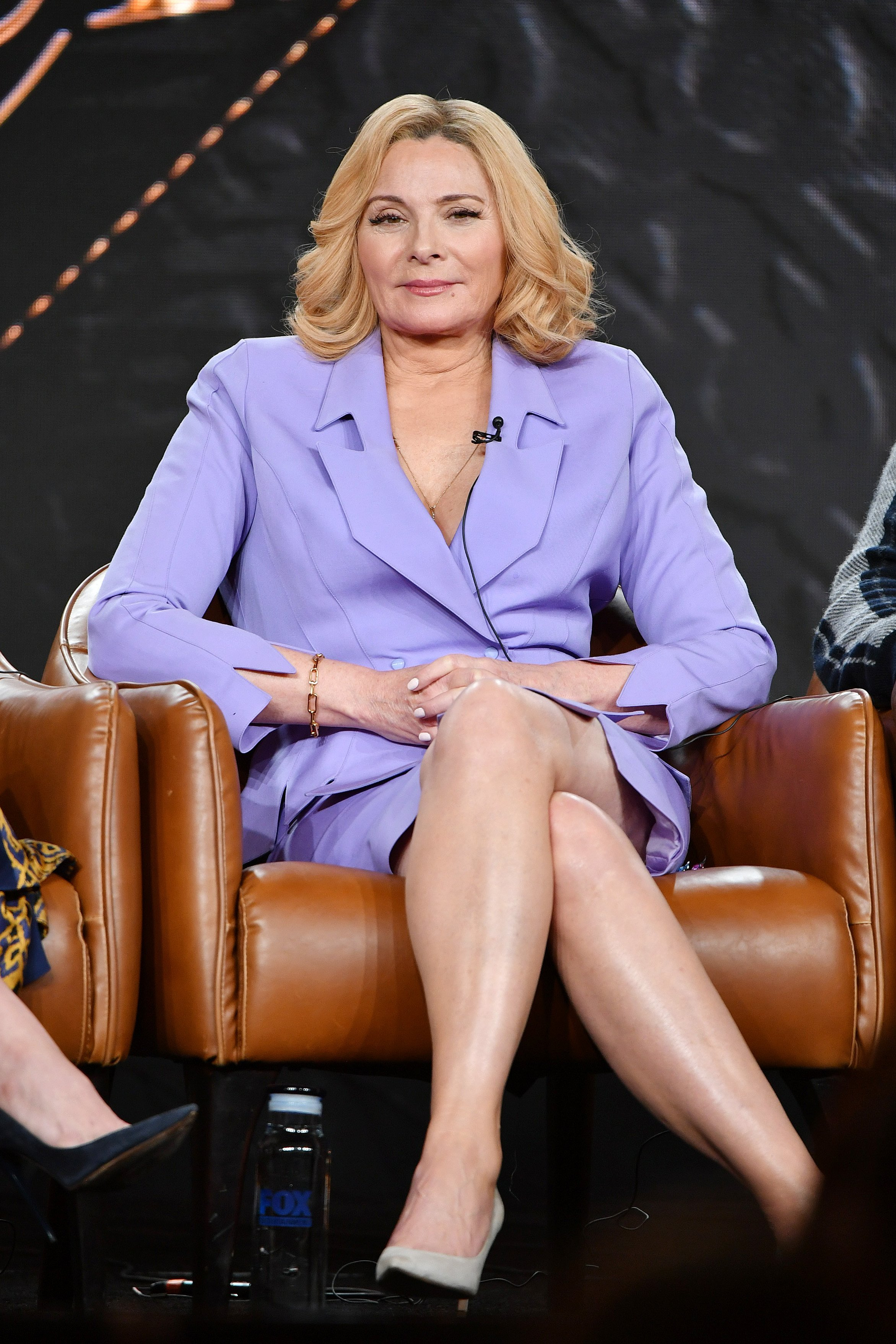 Kim Cattrall of 'Filthy Rich' speaks during the 2020 Winter TCA Press Tour at The Langham Huntington, Pasadena on January 07, 2020, in Pasadena, California. | Source: Getty Images.