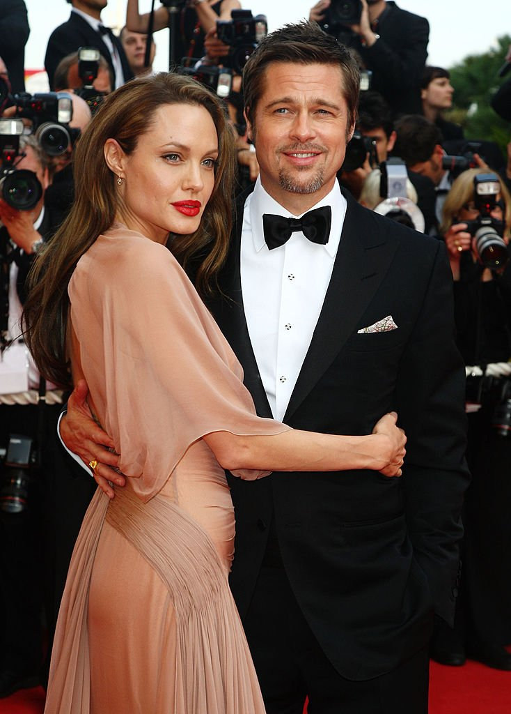 Brad Pitt and Angelina Jolie attend the Inglourious Basterds Premiere held at the Palais Des Festivals in 2009.   Source: Getty Images