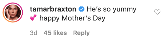 Tamar Braxton commented on a photo of Eniko Hart, her son Kenzo Hart and mother Honey posing for a selfie on Mother's Day | Source: Instagram.com/enikohart
