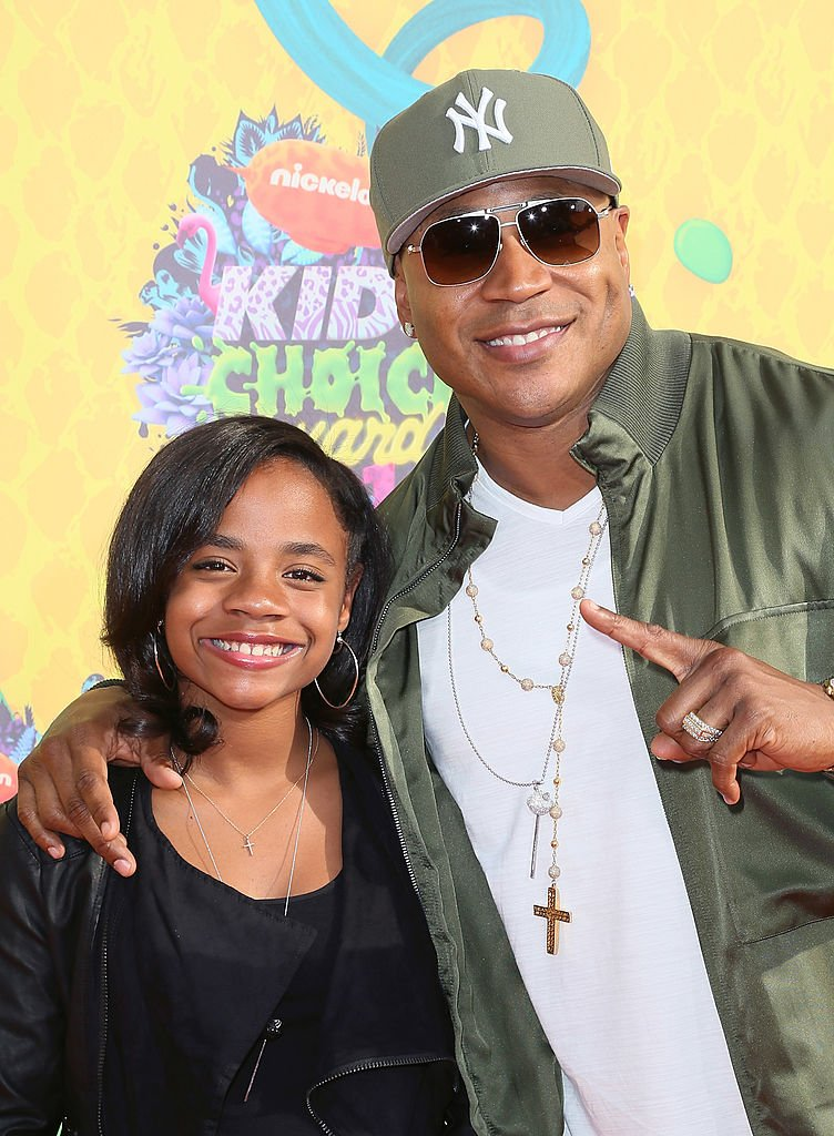 LL Cool J and daughter, Nina-Symone at the Nickelodeon's 27th Annual Kids' Choice Awards in Los Angeles, California on March 29 2014.   Photo; Getty Images