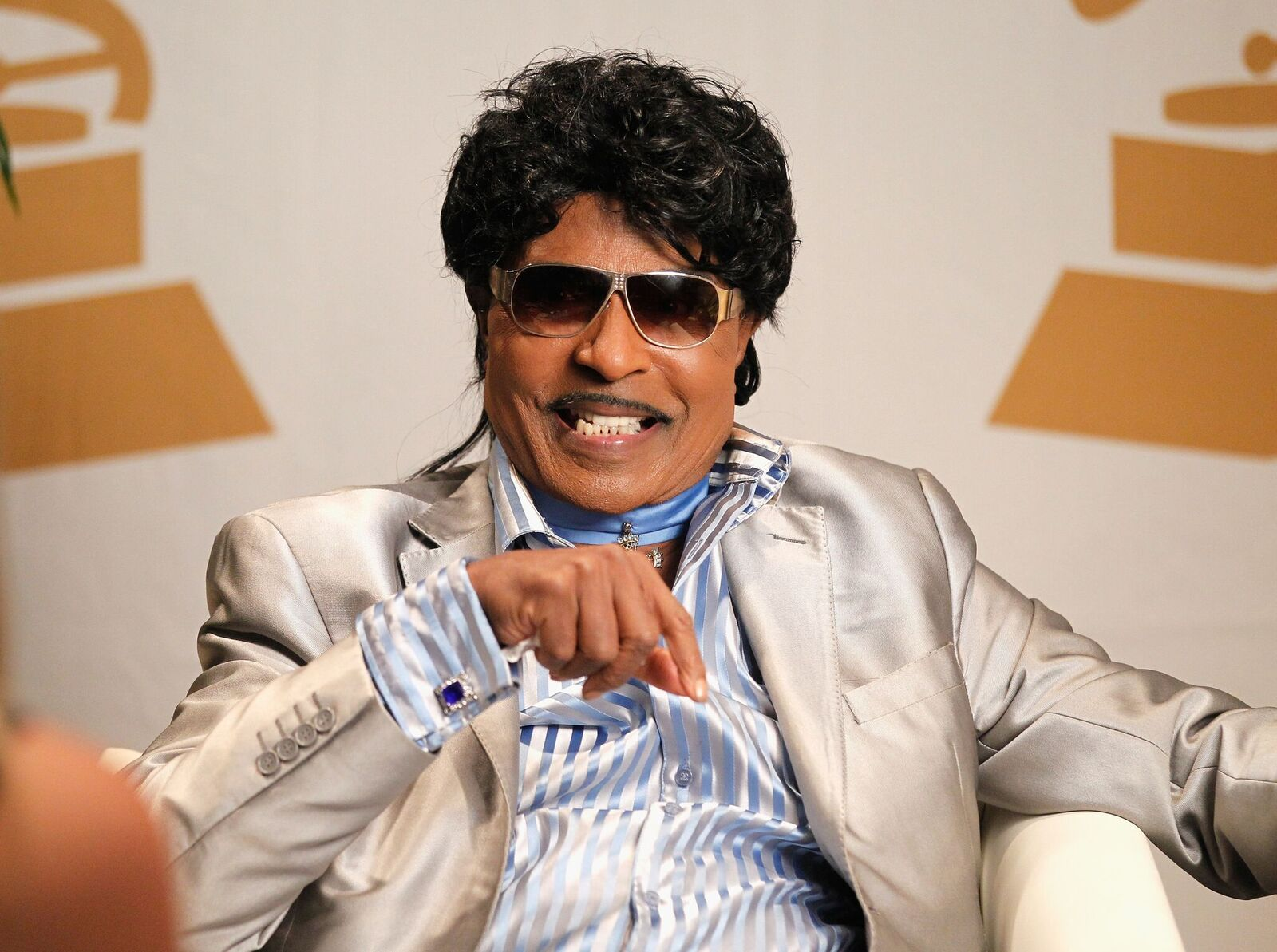"Little Richard at ""The Legacy Lounge"" for a conversation with CeeLo Green on September 29, 2013. 