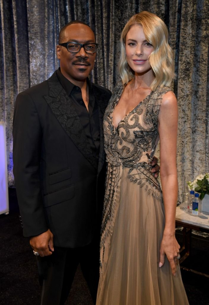 Eddie Murphy and Paige Butcher at the 25th Annual Critics' Choice Awards on January 12, 2020 in Santa Monica | Photo: Getty Images