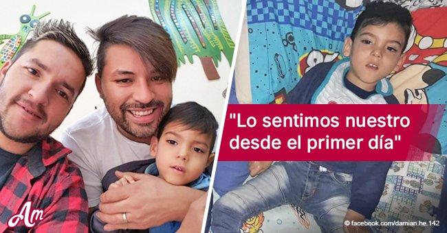 Pareja gay adoptó un bebé sin saber que tenía parálisis cerebral y lo aman de todas formas
