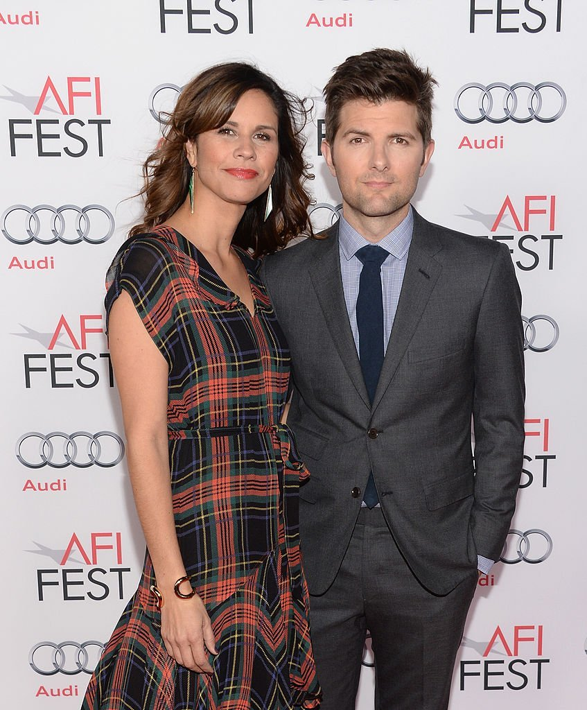 """Naomi Sablan and Adam Scott attend the AFI FEST 2013 Presented By Audi Premiere Of """"The Secret Life of Walter Mitty""""  