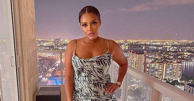 GUHH Star Angela Simmons Turns the Heat up as She Pours Her Curves into a Tight Dress (Photos)