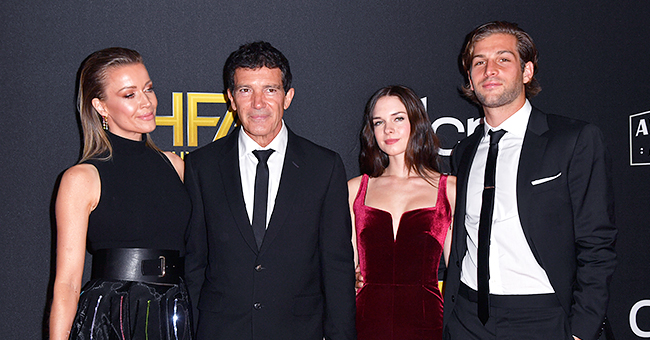 Antonio Banderas Is Joined by Girlfriend Nicole Kimpel & Daughter Stella at the Hollywood Film Awards