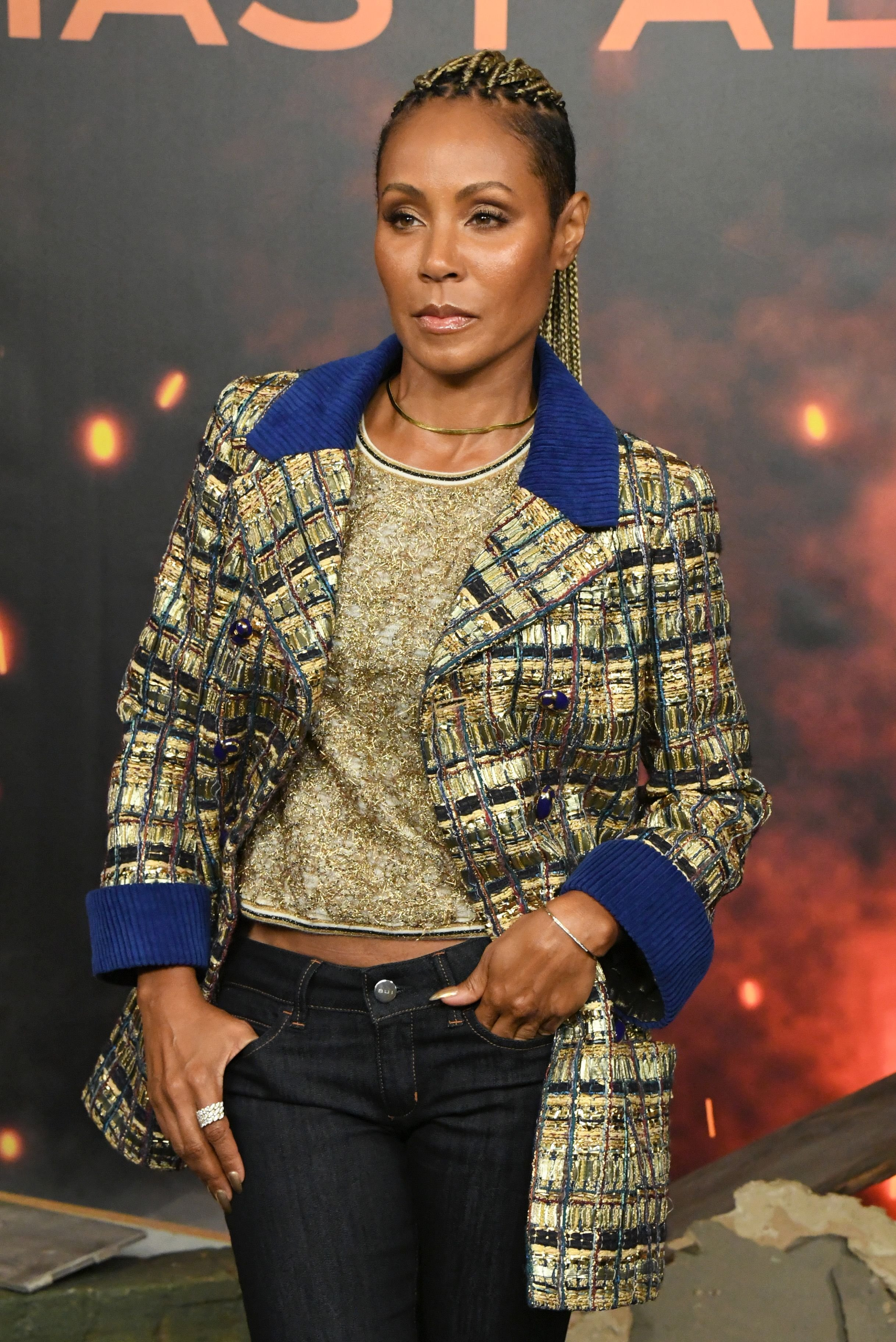 "Jada Pinkett Smith at the photocall for Lions Gate's ""Angel Has Fallen"" at the Beverly Wilshire Four Seasons Hotel on August 16, 2019 