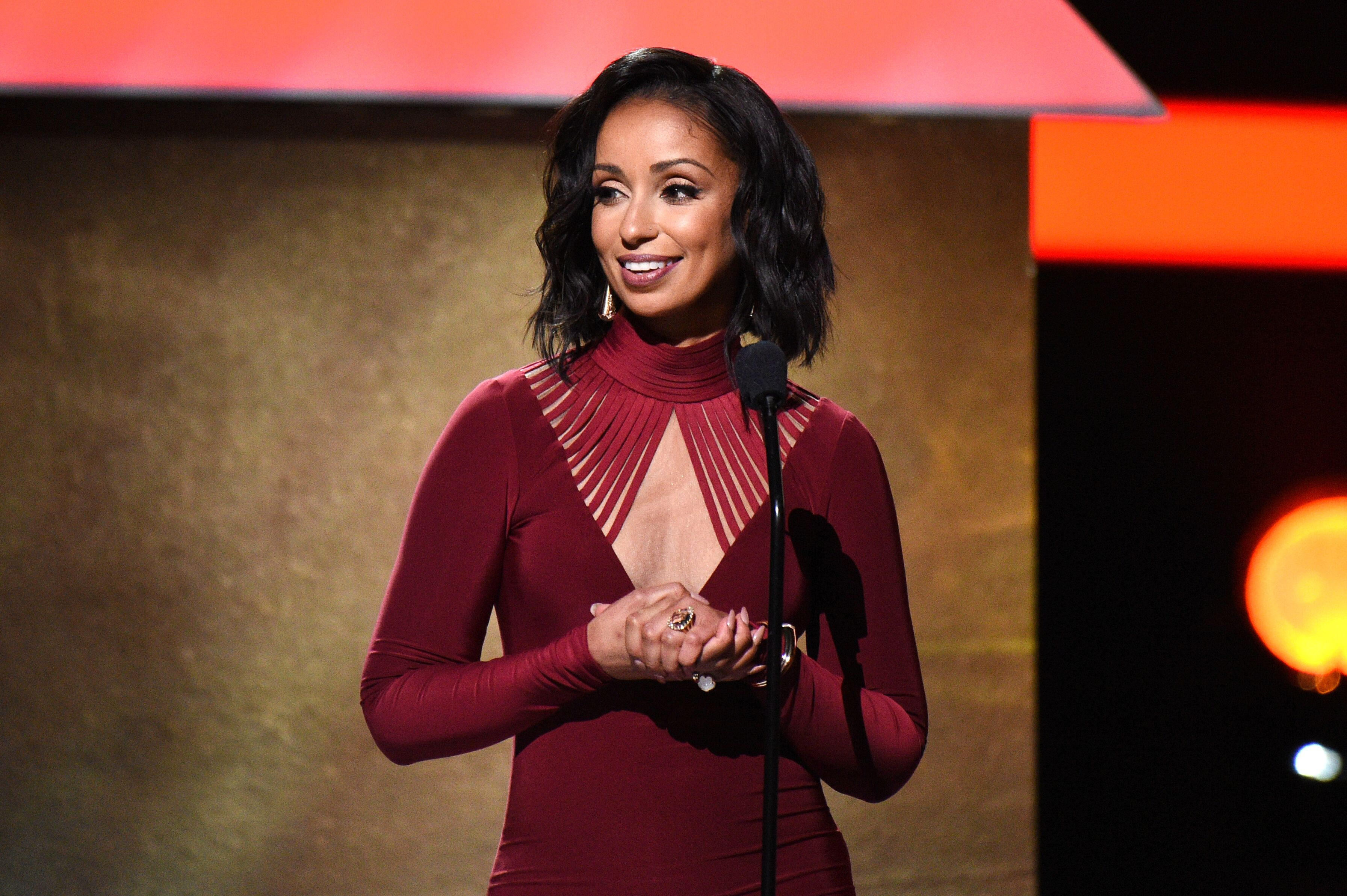Singer Mya onstage at the Premiere Ceremony during The 59th GRAMMY Awards at Microsoft Theater on February 12, 2017 in Los Angeles, California | Photo: Getty Images