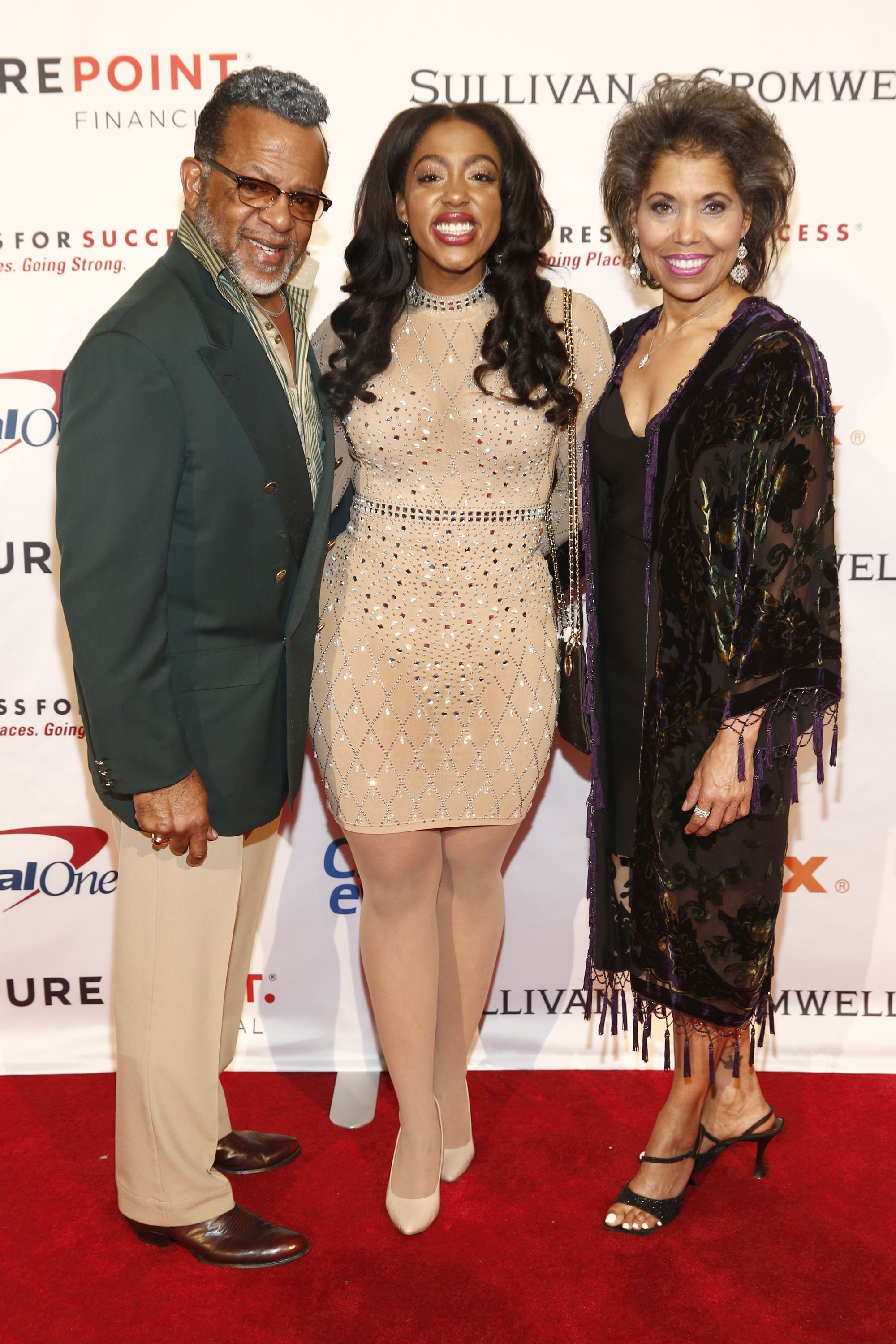 Carlton Pearson, Majeste Pearson and Gina Marie Gauthier attend the 2019 Dress For Success Live Vibrantly Gala on April 10, 2019 in New York City. | Photo: GettyImages