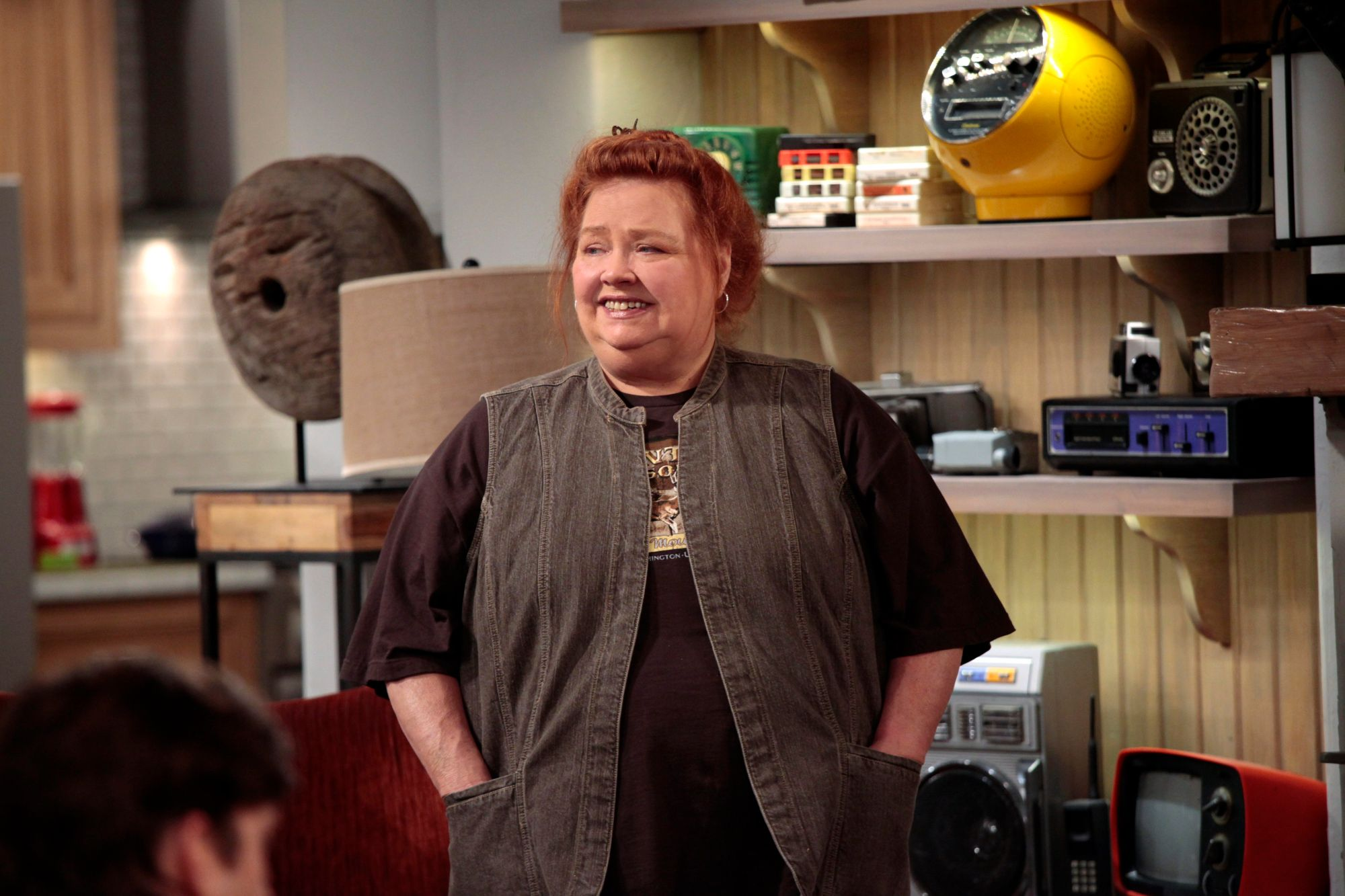 "Conchata Ferrell in the finale episode of ""Two and a Half Men"" in May 2012 