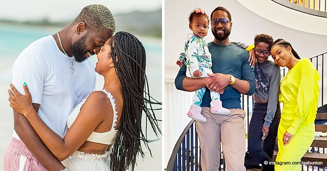 Gabrielle Union & Dwyane Wade Share a Sweet Embrace While at the Beach in Romantic Photos to Welcome 2021