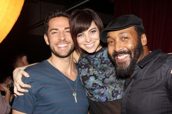 Zachary Levi, Krysta Rodriguez and Jesse L Martin attend the Paul Rudd 2nd Annual All-Star Bowling Benefit supporting Our Time at Lucky Strike on October 21, 2013   Photo: Getty Images