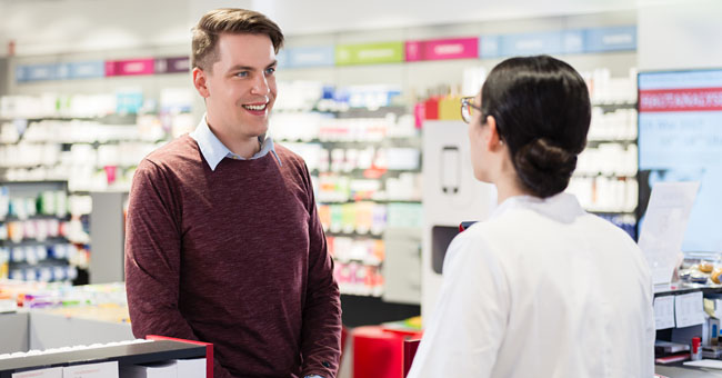 Young Man Is Planning a Hot Date with His Girlfriend, so He Goes to the Drugstore