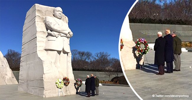 Donald Trump makes surprise visit and spent 2 minutes at Martin Luther King Jr.'s memorial