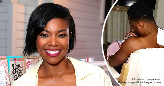 Gabrielle Union shares heart-melting pic of husband Dwyane Wade holding newborn daughter