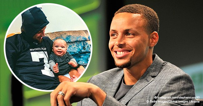 Stephen Curry snuggles with 7-month-old son Canon in heartwarming new pic