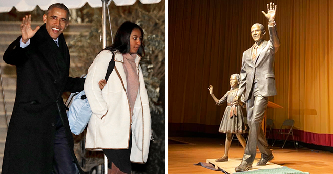 Barack Obama and Daughter Sasha Immortalized in Bronze in the 'City of Presidents'