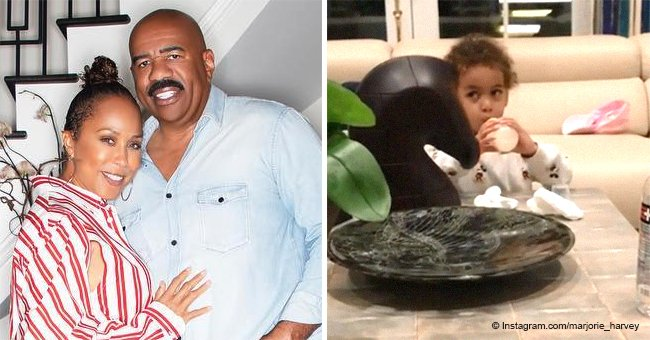Marjorie Harvey melts hearts with video of grandson Noah drinking milk from his baby bro's bottle