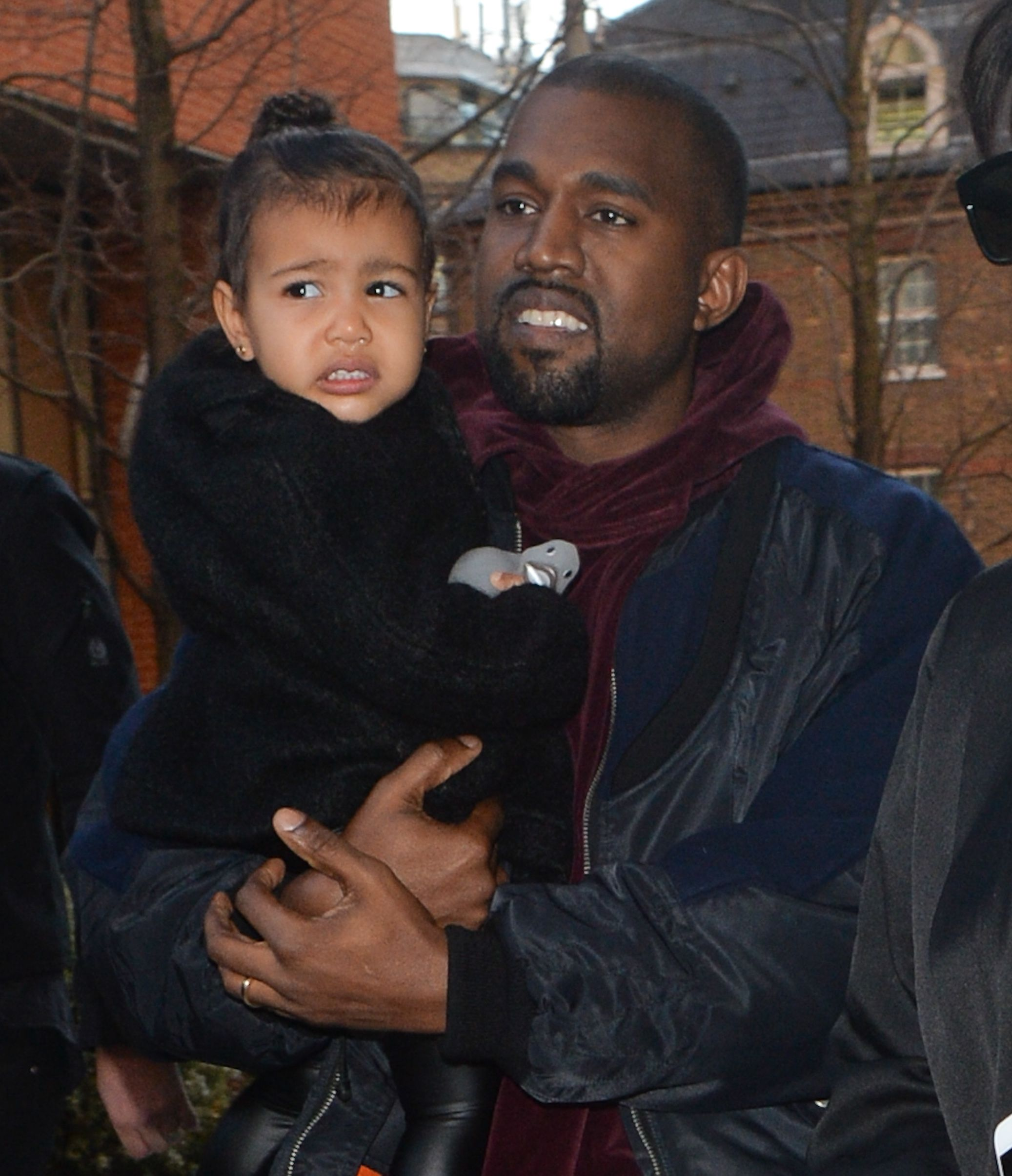 Kanye West with daughter North in Battersea in London, England in 2015 | Source: Getty Images