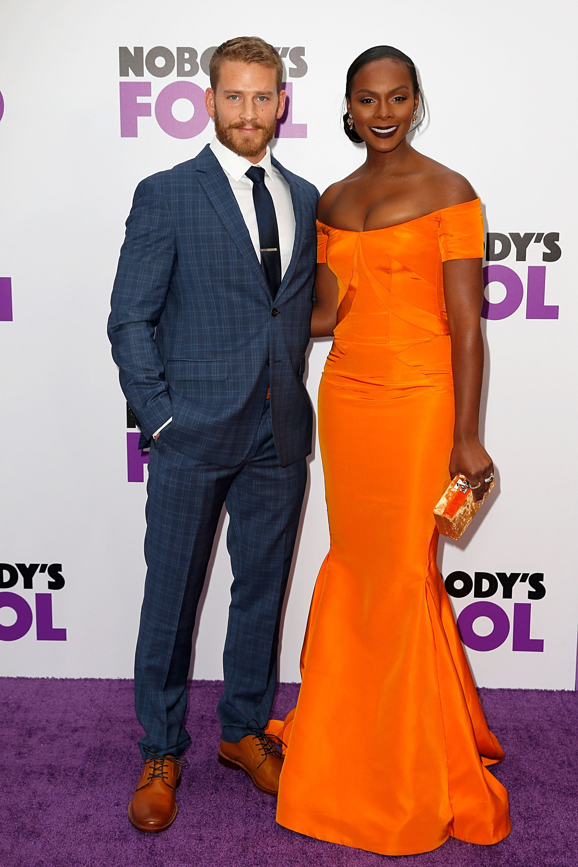 """Nicholas James and Tika Sumpter at the """"Nobody's Fool"""" premiere on October 28, 2018 in New York. │Photo: Getty Images"""