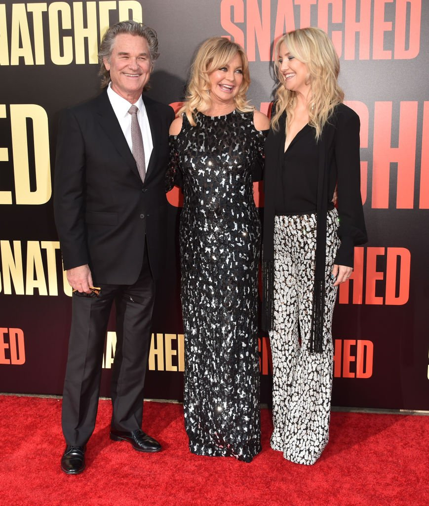 "Kurt Russell, Goldie Hawn, and Kate Hudson attend the premiere of 20th Century Fox's ""Snatched"" at Regency Village Theatre on May 10, 2017, in Westwood, California. 