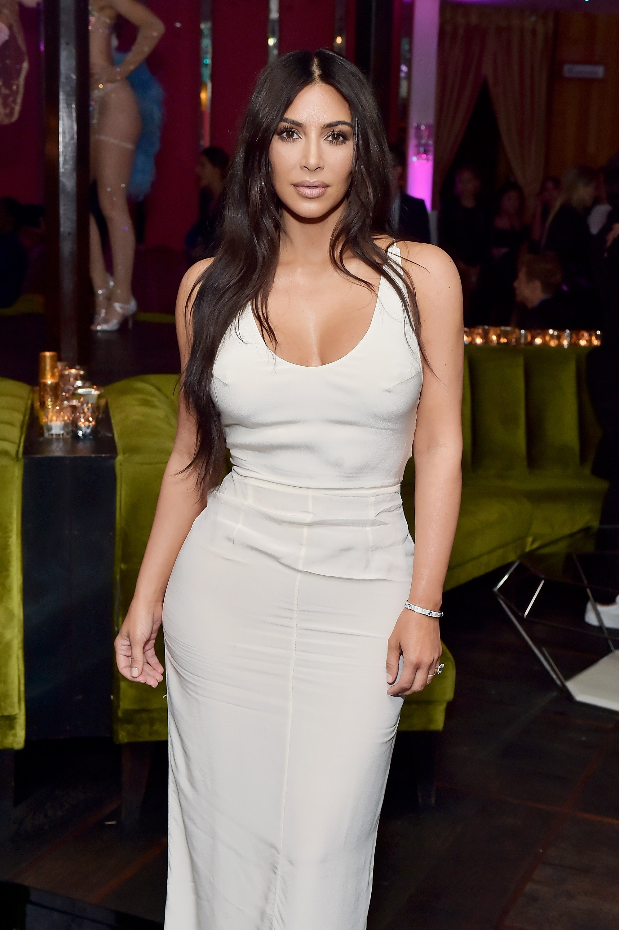 "Kim Kardashian West attends Lorraine Schwartz launches ""The Eye Bangle"" at Delilah on March 13, 2018. 