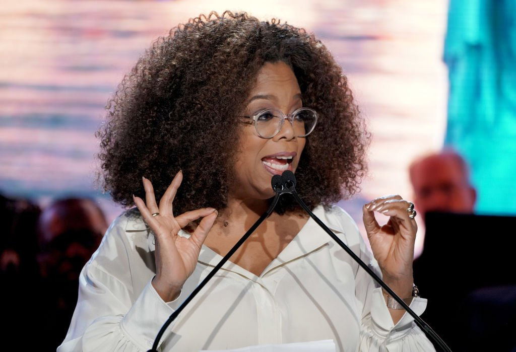 Oprah Winfrey speaks onstage at the Statue Of Liberty Museum Opening Celebration | Photo: Getty Images