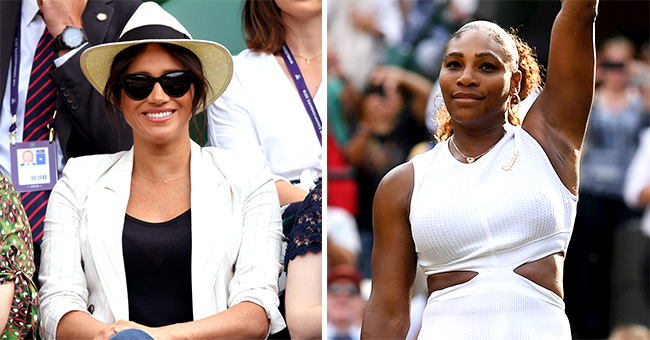 Meghan Markle Takes Break from Baby Archie to Watch Serena Williams at Wimbledon