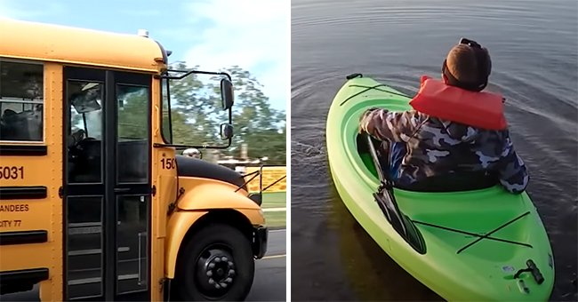 A young boy thought of a clever way to get to school amid the bus driver shortage, he kayaks across the Dillon Reservoir | Photo: Youtube/Inside Edition