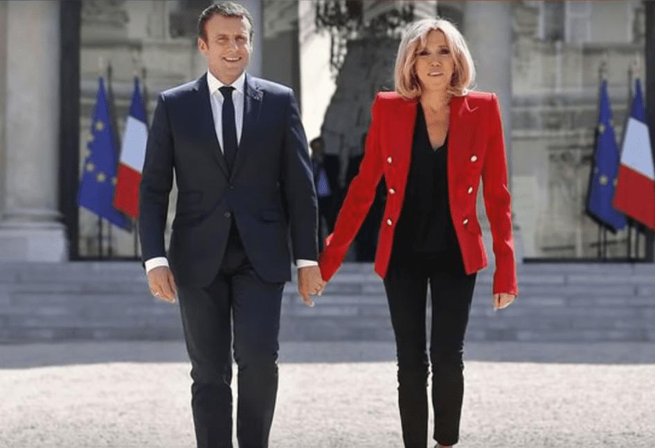 Emmanuel et Brigitte Macron. | Youtube/France 24/7