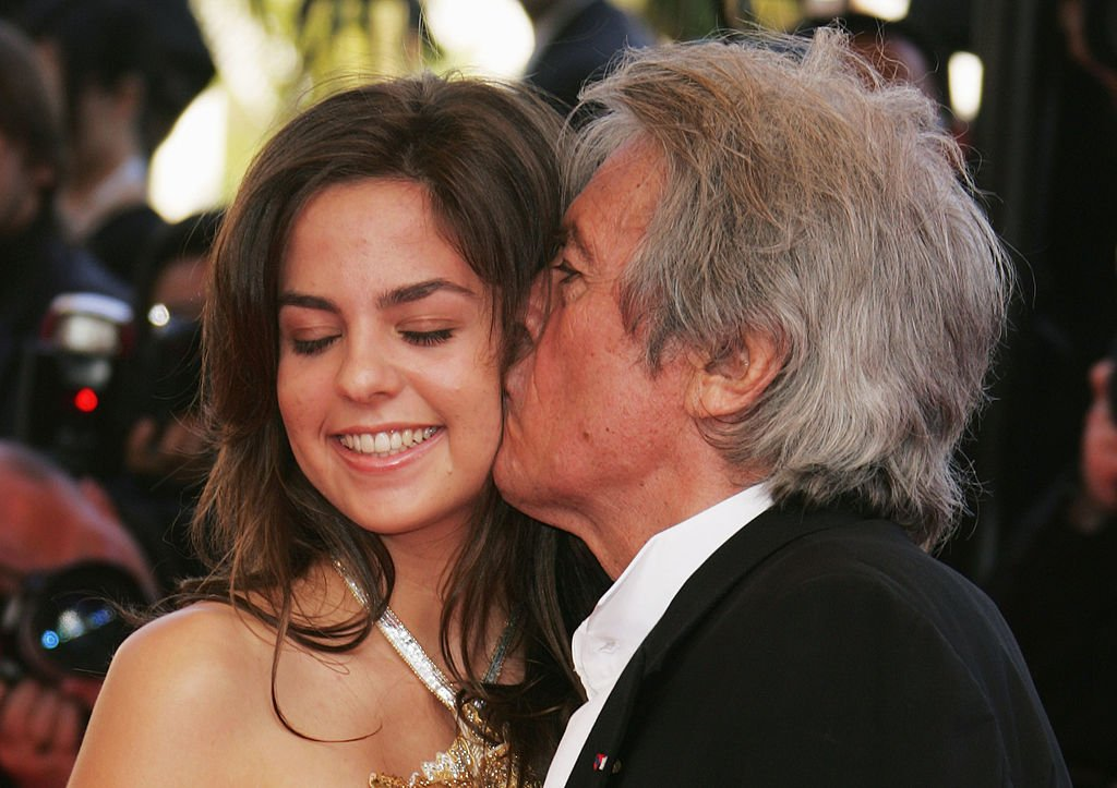 Alain Delon et sa fille Anouchka. l Getty Images
