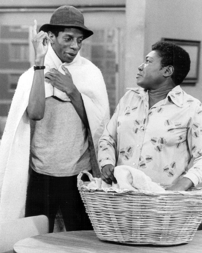 """Jimmie Walker and Esther Rolle, 1974 in """"Good Times"""" 