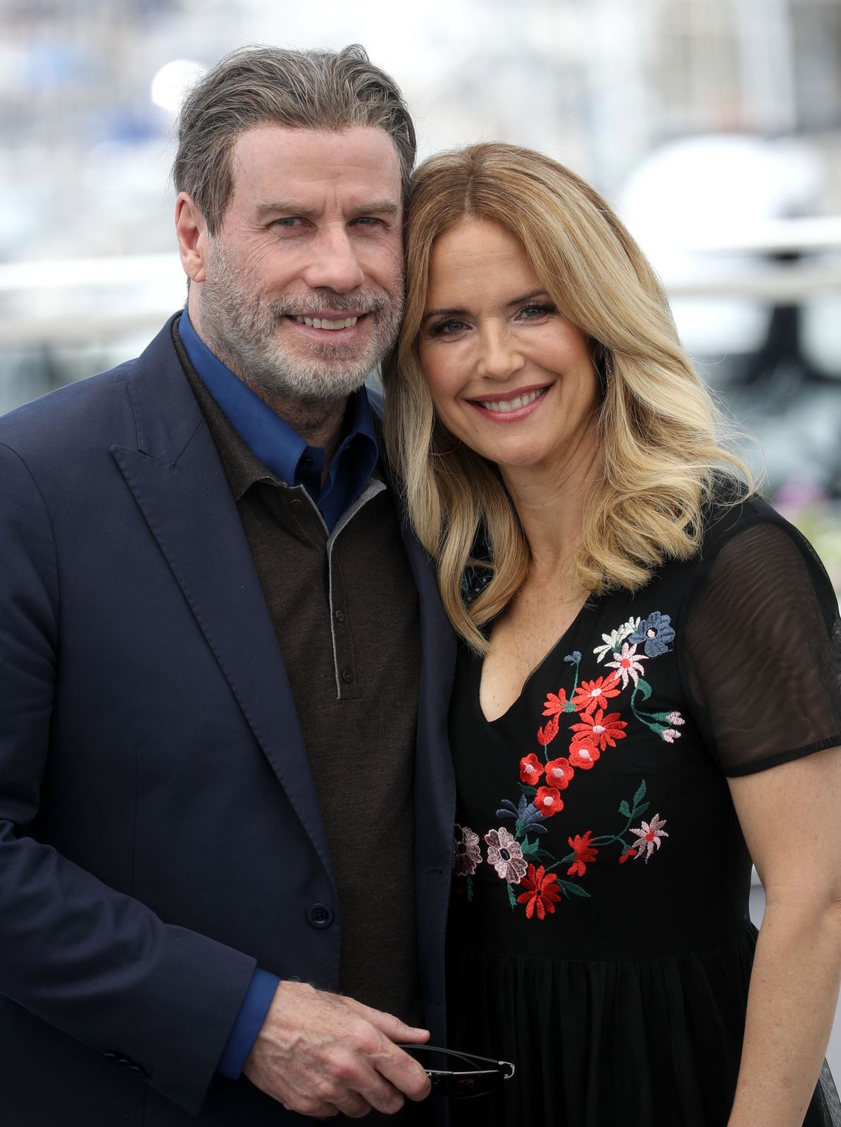 "John Travolta und Kelly Preston beim Fototermin für die ""Gotti"" während der 71. Filmfestspiele von Cannes am 15. Mai 2018 in Frankreich 