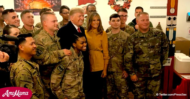 President Trump and First lady Melania make surprise visit to see American troops in Iraq