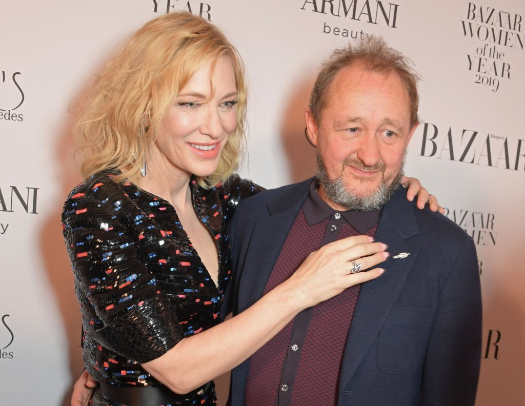 Cate Blanchett and Andrew Upton at the Harper's Bazaar Women of the Year Awards on October 29, 2019 in London, England