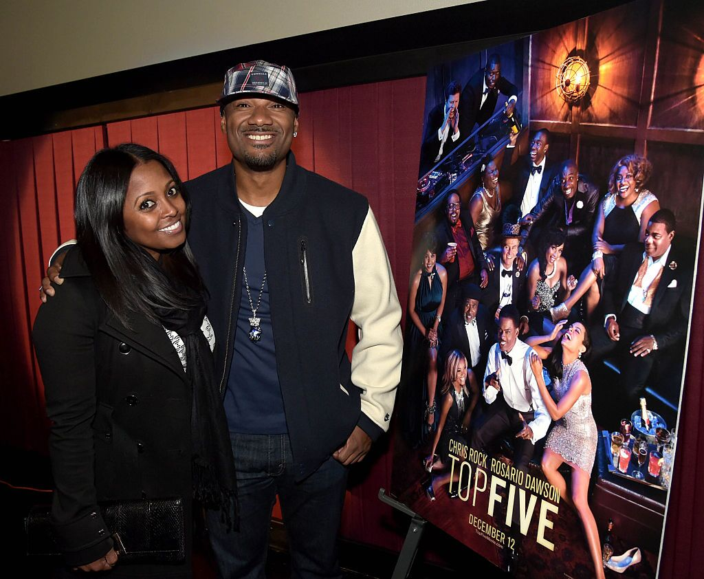 """Keisha Knight-Pulliam and V-103's Big Tigger attend the VIP Screening of Paramount Pictures' """"Top Five"""" with Chris Rock at Regal Atlantic Station on December 9, 2014 in Atlanta, Georgia.   Source: Getty Images"""